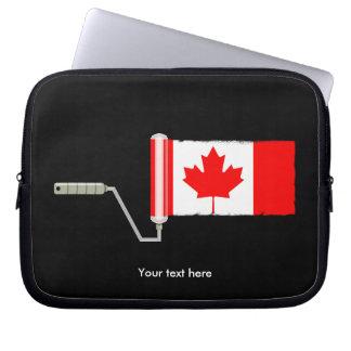 Kanadische Flaggen-Farben-Rolle Laptopschutzhülle