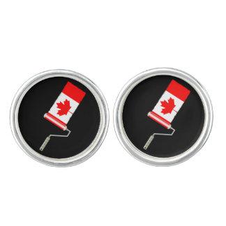 Kanadische Flaggen-Farben-Rolle Manschetten Knöpfe