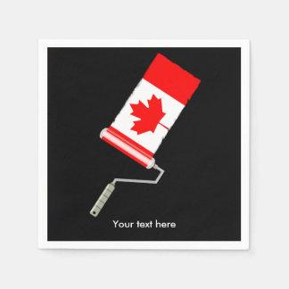 Kanadische Flaggen-Farben-Rolle Serviette