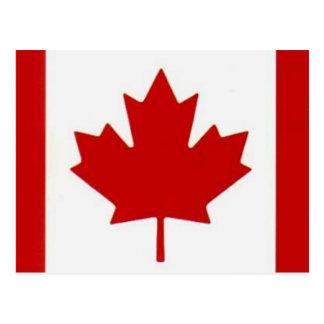 Kanadische Flaggen-Postkarte Postkarte