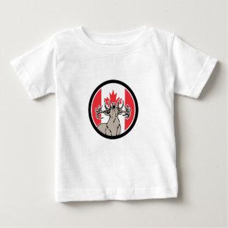 Kanadische Hirsch-Rotwild-Kanada-Flaggen-Ikone Baby T-shirt