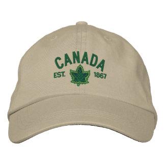 Kanadische Jahrestags-Stickerei Kanada Bestickte Baseballkappe