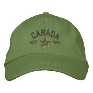Kanadische Jahrestags-Stickerei Kanada Bestickte Baseballmützen