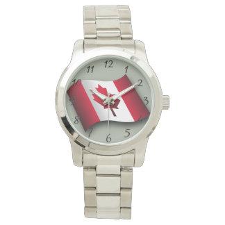 Kanadische klassische Flagge Uhr