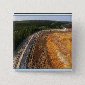 Kanadische Landschaft der geschlossenen Quadratischer Button 5,1 Cm