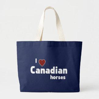 Kanadische Pferde Jumbo Stoffbeutel