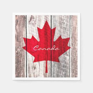 Kanadische Rotahornblattflagge Papierservietten