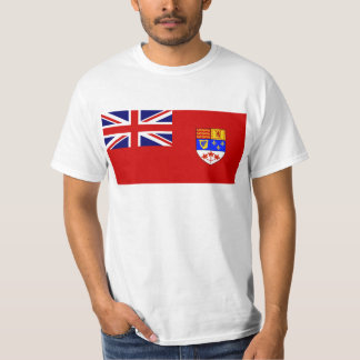 Kanadische rote Fahneflagge T-Shirt