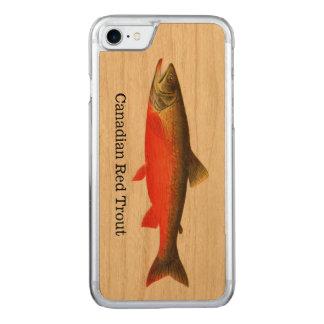 Kanadische rote Forelle-Fische Carved iPhone 8/7 Hülle