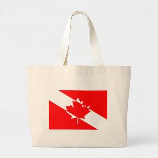 Kanadische Sporttaucher-Flagge Jumbo Stoffbeutel