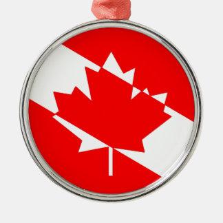 Kanadische Sporttaucher-Flagge Silbernes Ornament