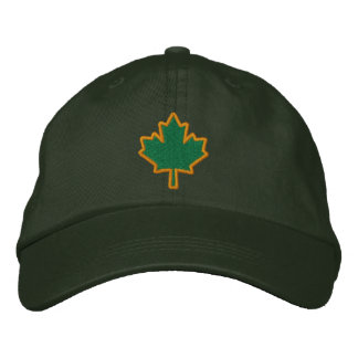Kanadische Stickerei gesticktes Ahornblatt Bestickte Baseballkappen