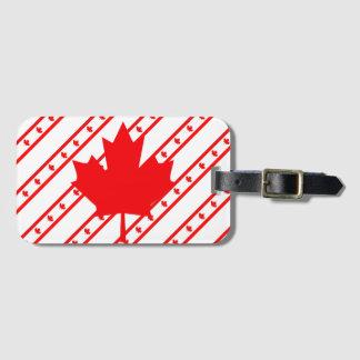 Kanadische Streifenflagge Kofferanhänger