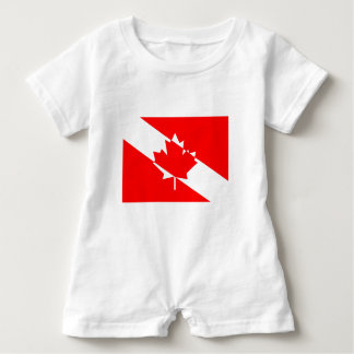 Kanadische Taucher-Flagge (TM) klar Baby Strampler