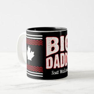 Kanadischer Ahorn-großer Vati (Ihr Name) Zweifarbige Tasse