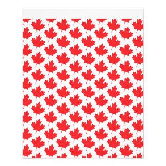 Kanadischer Ahornblatt-Kanada-Tagesnationales 11,4 X 14,2 Cm Flyer