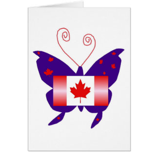Kanadischer Diva-Schmetterling Karte