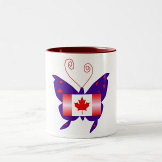 Kanadischer Diva-Schmetterling Tee Tasse