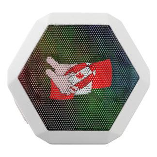 Kanadischer Flaggen-Ahornblatt-Rugbyball Weiße Bluetooth Lautsprecher