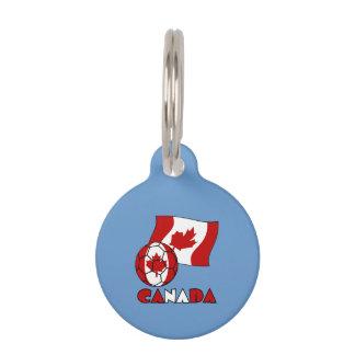 Kanadischer Fußball und Flagge Tiernamensmarke