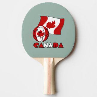 Kanadischer Fußball und Flagge Tischtennis Schläger