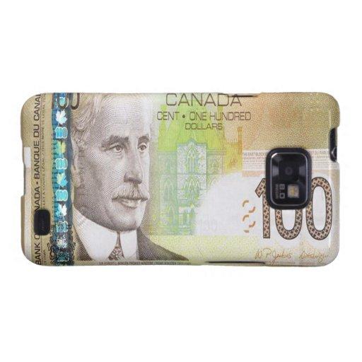 Kanadischer Kasten 100 Dollarscheins Samsung Galax Samsung Galaxy S2 Cover