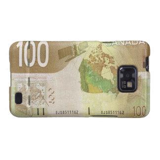 Kanadischer Kasten 100 Dollarscheins Samsung Galax Galaxy SII Hüllen