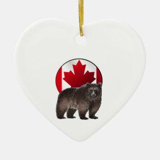 Kanadischer Lebensraum Keramik Ornament