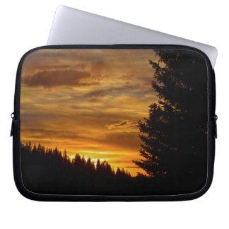 Kanadischer Natur-Landscapesee-Sonnenuntergang Laptop Sleeve