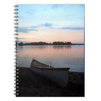 Kanadischer Sonnenaufgang, Kanu, Notizblock