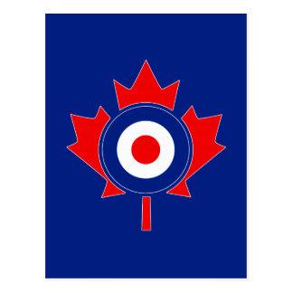 Kanadisches Ahorn-Blatt Roundel Mod auf Blau Postkarte