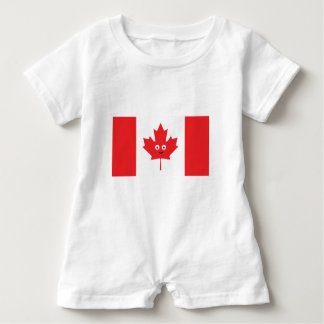 Kanadisches Ahornblatt-Gesicht Baby Strampler