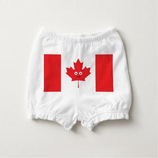 Kanadisches Ahornblatt-Gesicht Baby-Windelhöschen