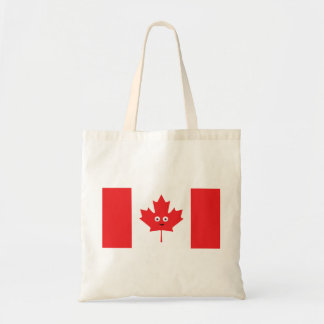 Kanadisches Ahornblatt-Gesicht Tragetasche