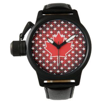 Kanadisches Ahornblatt mit Uhr