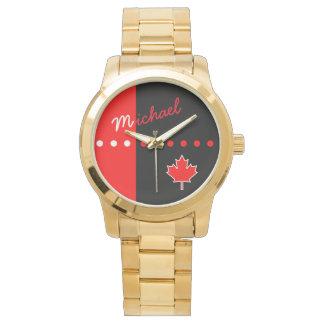 Kanadisches Ahornblatt Uhr