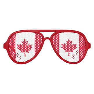 Kanadisches Flaggen-Ahornblatt rotes weißes Kanada Piloten Sonnenbrillen