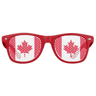 Kanadisches Flaggen-Ahornblatt rotes weißes Kanada Retro Sonnenbrillen