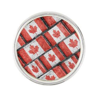Kanadisches Flaggen-Motiv-Muster Anstecknadel
