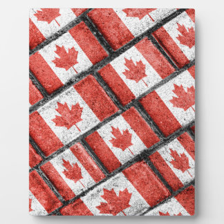Kanadisches Flaggen-Motiv-Muster Fotoplatte