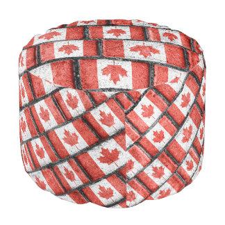 Kanadisches Flaggen-Motiv-Muster Hocker