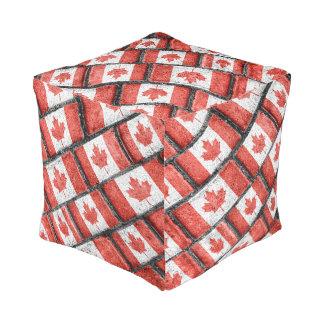 Kanadisches Flaggen-Motiv-Muster Kubus Sitzpuff