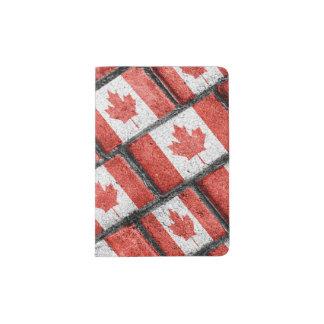 Kanadisches Flaggen-Motiv-Muster Passhülle