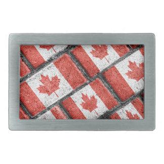 Kanadisches Flaggen-Motiv-Muster Rechteckige Gürtelschnallen
