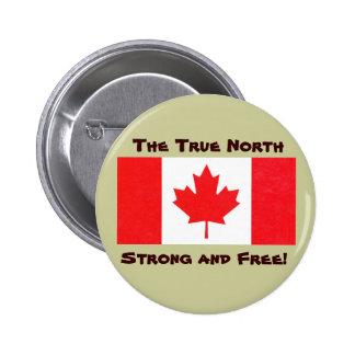 Kanadisches Flaggen-rechtweisend Nord-starker u. f Button
