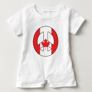 Kanadisches Friedenszeichen Baby Strampler