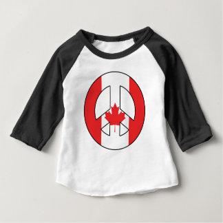 Kanadisches Friedenszeichen Baby T-shirt
