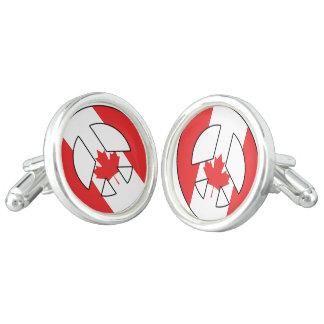 Kanadisches Friedenszeichen Manschettenknöpfe