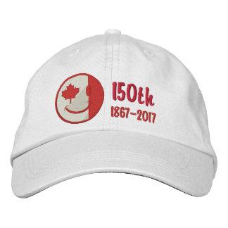 Kanadisches glückliches Gesichts-150. Jahrestag Bestickte Kappe