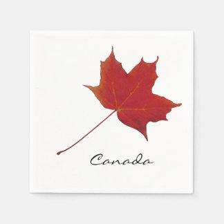 kanadisches Rotahornblatt Serviette
